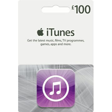iTunes Card (GBP 100 / for UK accounts only) digital