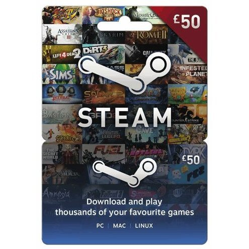 Steam Gift Card (GBP 50 / for UK accounts only)