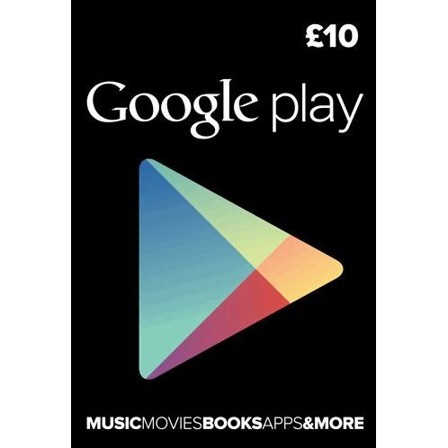 Google Play Card (GBP 10 / for UK accounts only)