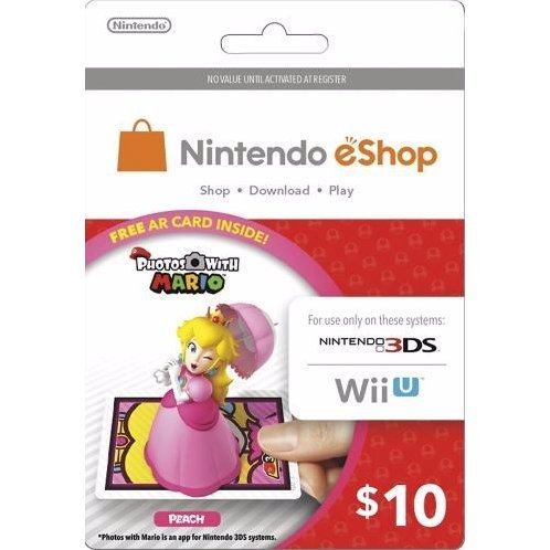 Nintendo Prepaid Card (US$10 / for US network only) [Peach AR Card Edition]