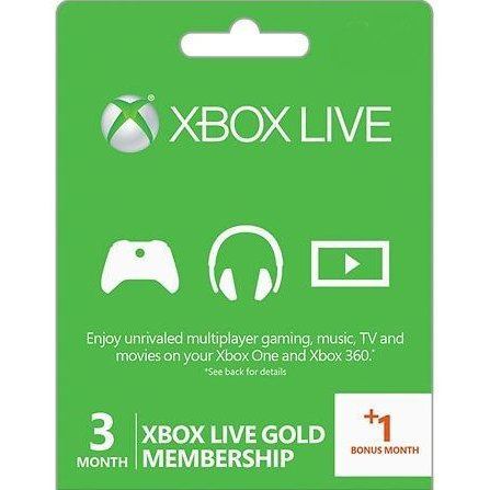 Xbox Live 3+1 - Month Subscription Card