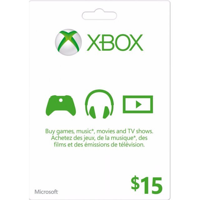 Xbox Live Value Card (CAD 15)
