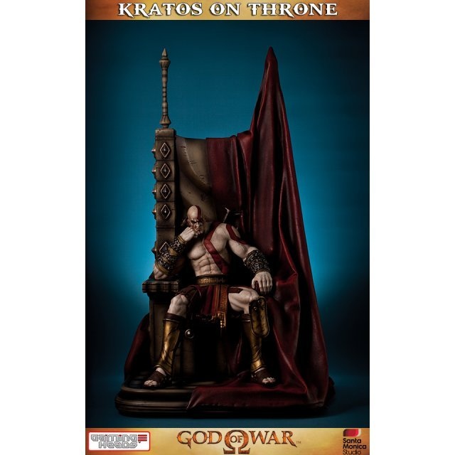 God of War Statue: Kratos On Throne