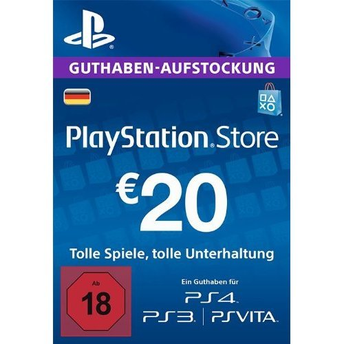 PlayStation Network Card (EUR 20 / for DE network only)