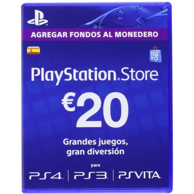 PSN Card 20 EUR | Playstation Network Spain
