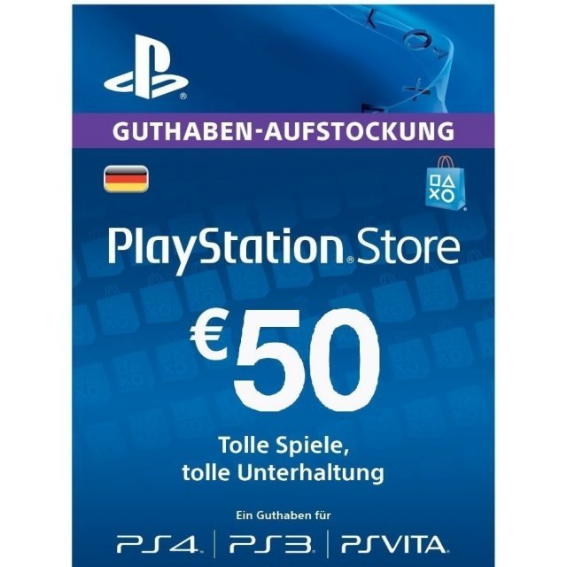 PSN Card 50 EUR | Playstation Network Germany