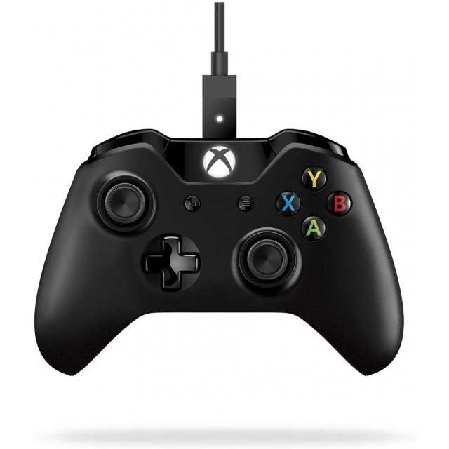 Xbox One Controller + Cable for Windows (Black)