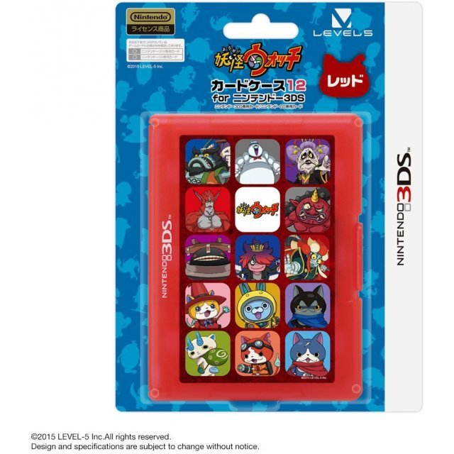Youkai Watch Card Case 12 for 3DS (Red)