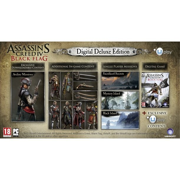 Buy assassin's creed 4 black flag. Digital deluxe edition. And.