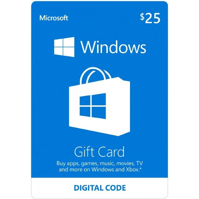 Microsoft Windows Store Gift Card (USD 25)