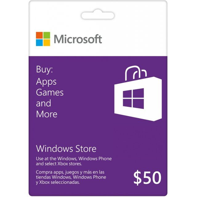 Microsoft Windows Store Gift Card (USD 50)