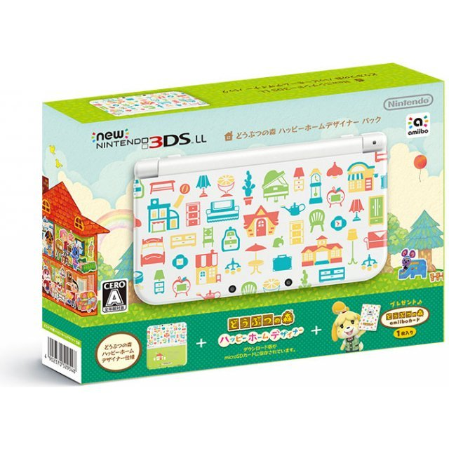 New Nintendo 3ds Ll Doubutsu No Mori Happy Home Designer Pack