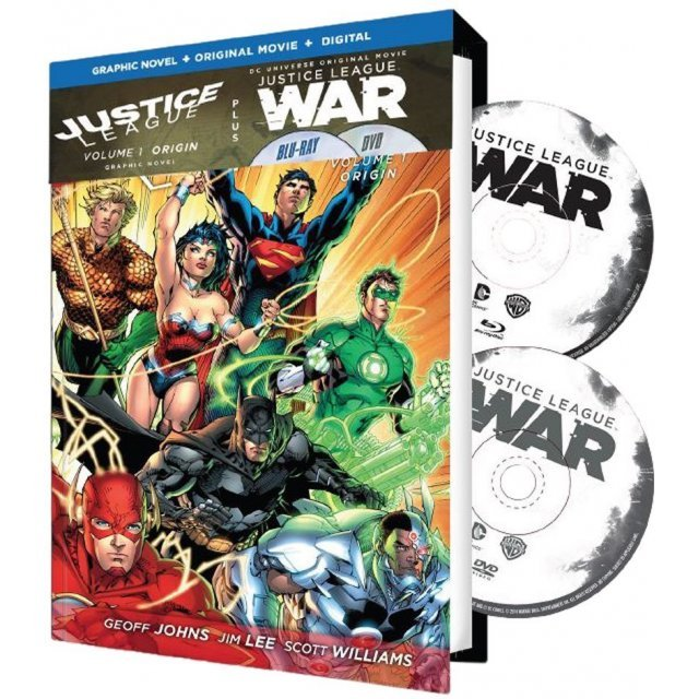 Justice League: War / Justice League 1 Graphic Novel [Graphic Novel+Original Movie+Digital HD]