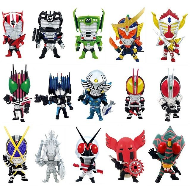 Tokusatsu Heroes Kamen Rider Vol.4 (Set of 15 pieces)