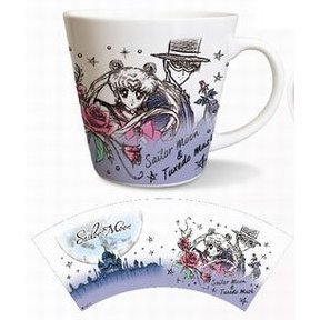 Sailor Moon Mug Cup: Sailor Moon 03 Sailor Moon & Tuxedo Mask MGC