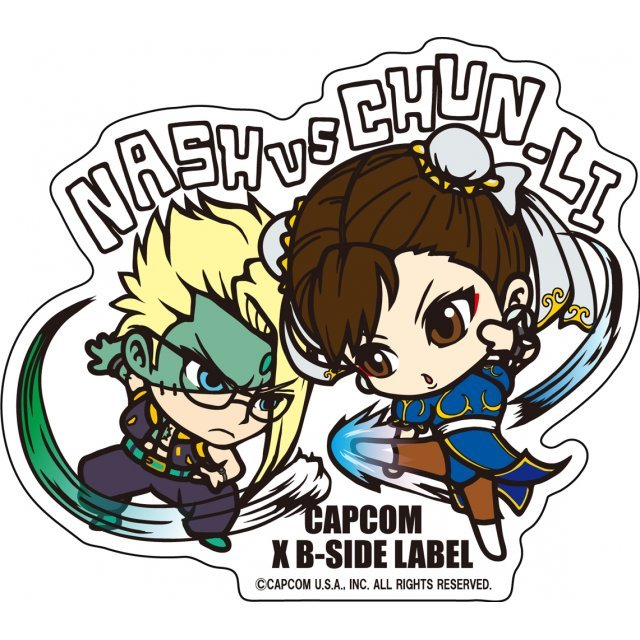 Capcom x B-Side Label Sticker L Street Fighter: Nash Chun-Li