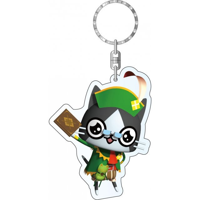Monster Hunter Diary Poka Poka Airou Village DX Acrylic Keychain: Poster Girl