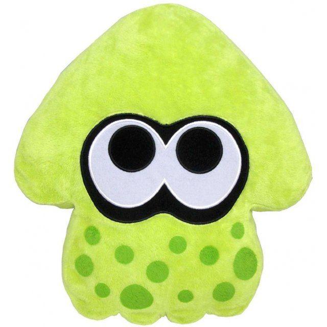 Splatoon Plush: Lime Green Splatoon Squid Cushion (Re-run)