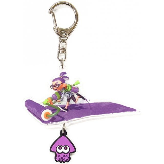 Splatoon Acrylic Key Chain with Squid Rubber: Boy (Roller)