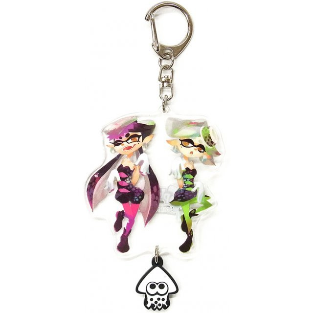 Splatoon Acrylic Key Chain with Squid Rubber: Sea O' Colors