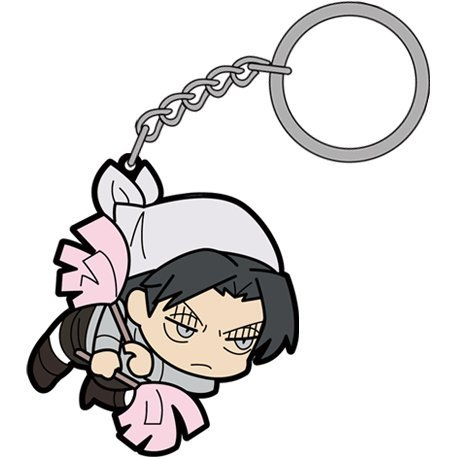 Attack on Titan Tsumamare Key Ring: Cleaning Levi