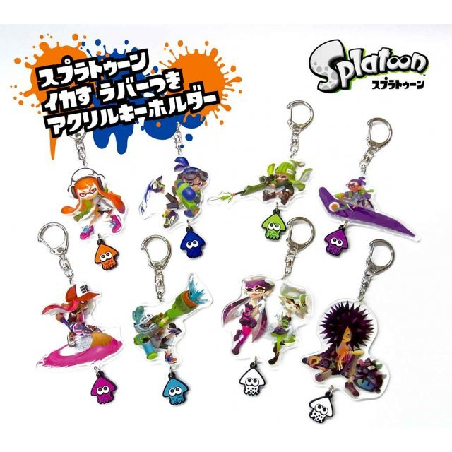 Splatoon Acrylic Key Chain with Squid Rubber Vol. 1 (Set of 8 pieces)