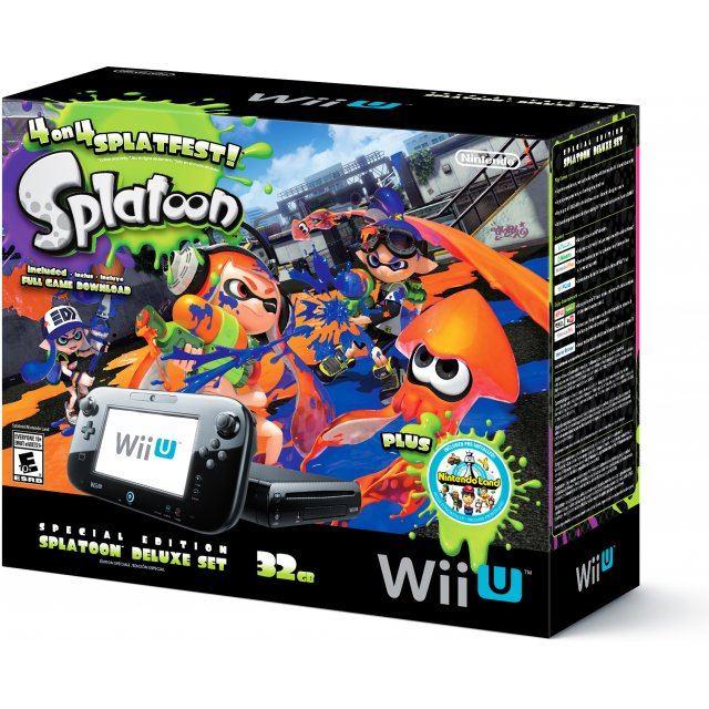 Nintendo Wii U Deluxe Set 32GB - Splatoon Special Edition (Black)