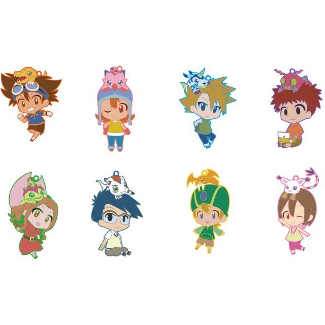 Digimon Adventure CharaRide Trading Rubber Strap (Set of 8 pieces)