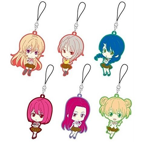 Shokugeki no Soma Trading Rubber Strap Girls Assort (Set of 6 pieces)