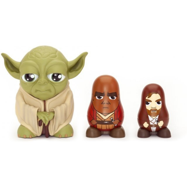 Star Wars Chubby Collectable Russian Doll Figure Set (Yoda)