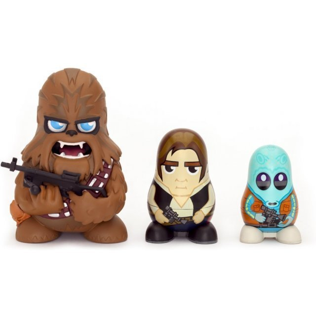 Star Wars Chubby Collectable Russian Doll Figure Set (Chewbacca)