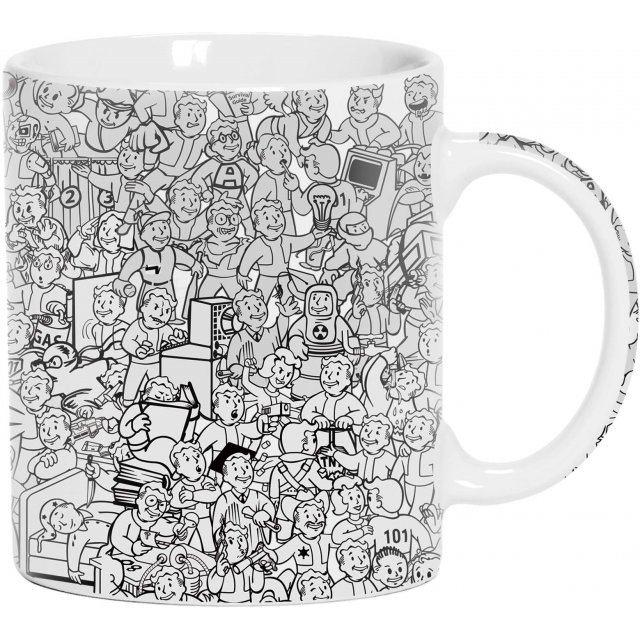 fallout collage mug
