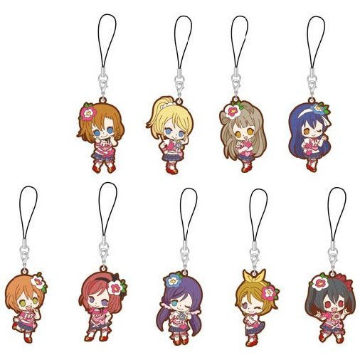 Love Live! Rubber Strap Happy Maker! Ver. (Set of 9 pieces)