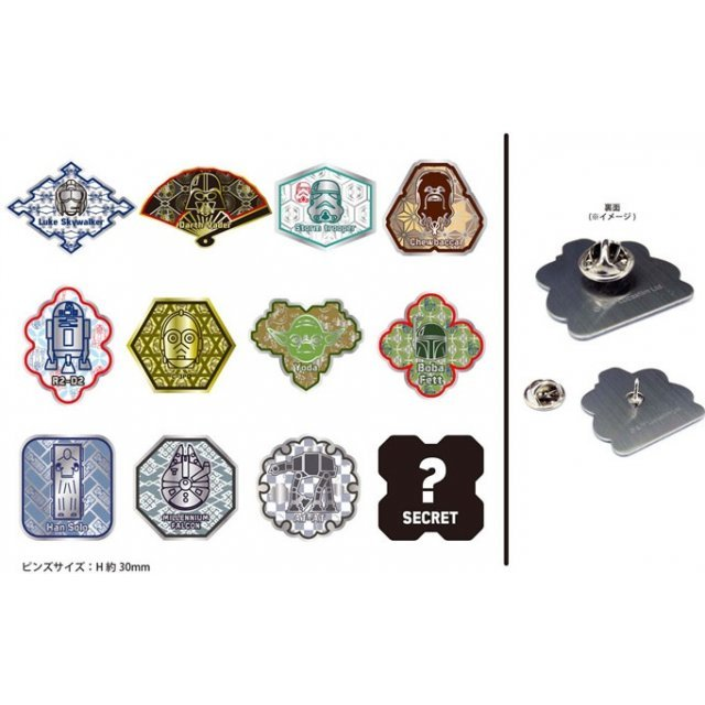 Star Wars Japanese Pattern Pins Badge Collection (Set of 12 pieces)