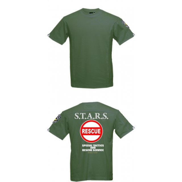 BIOHAZARD 0 T-shirt Olive Drab XL Size: Rescue