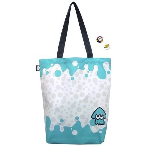 Splatoon Ikasu Tote Bag with Can Badge [Squid] (Re-run)