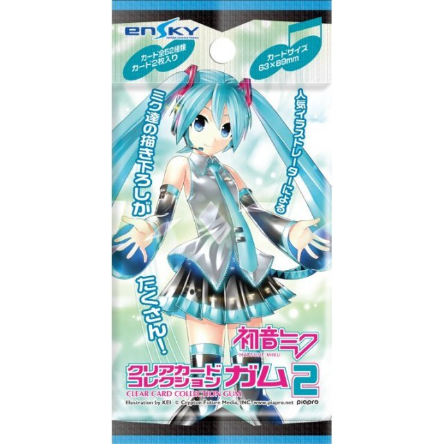 Hatsune Miku Clear Card Collection Gum 2 [First Release Limited Edition] (Set of 16 pieces)