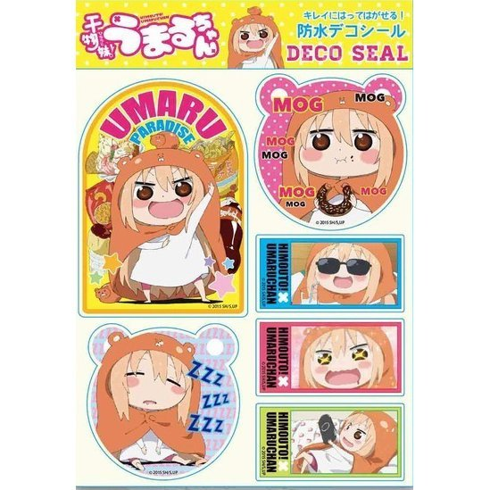 Himouto! Umaru-chan Waterproof Decoration Seal A