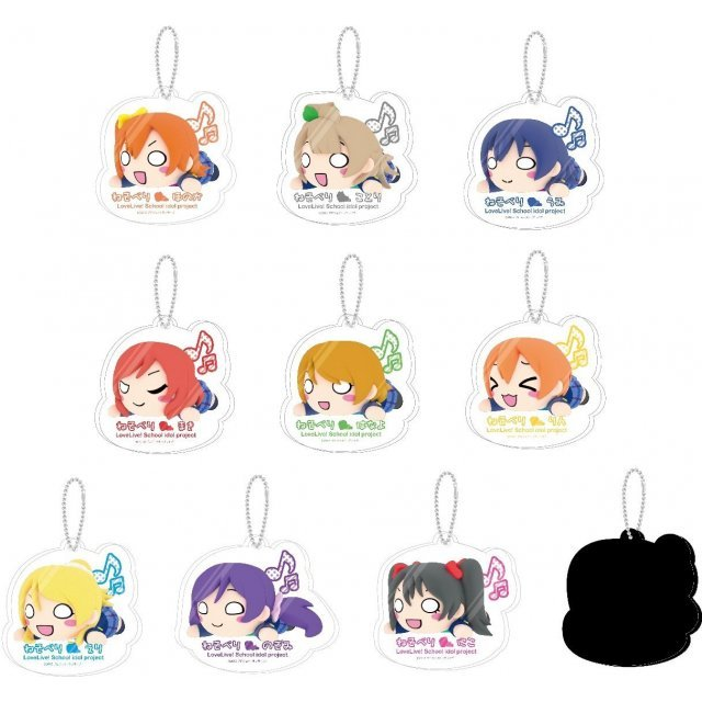 Love Live! Nesoberi Acrylic Keychain Mascot (Set of 9 pieces)