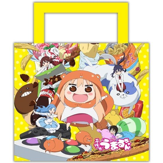 Himouto! Umaru-chan Water-repellent Shoulder Tote Bag: Umaru-chan Key Visual