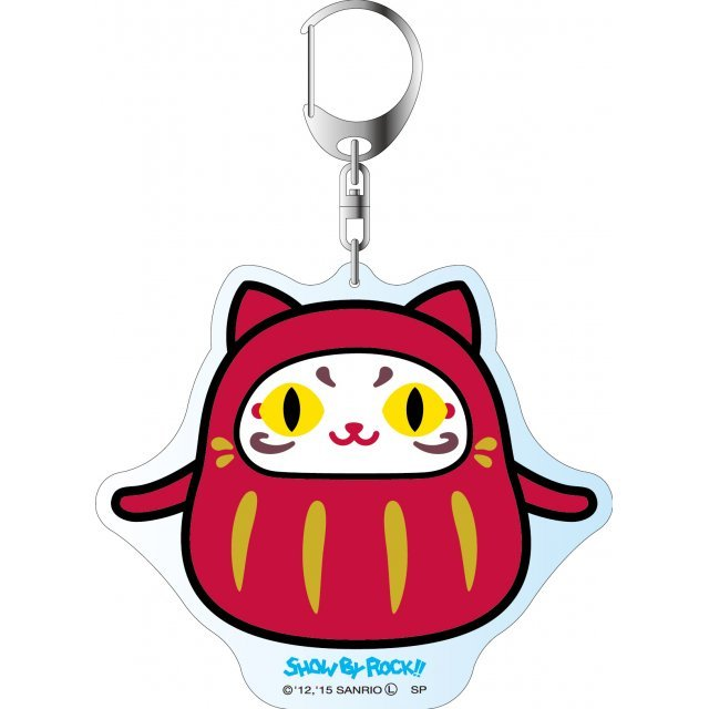 Show by Rock!! Deka Key Chain Simple Design Ver.: Daru Tayu (Daruma)