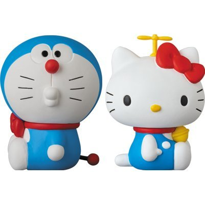 Doraemon Meets Hello Kitty Ultra Detail Figure: Doraemon x Hello Kitty (Set of 2)