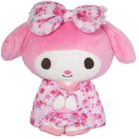 My Melody Standing Plush Pink S: Kawaii Pajamas