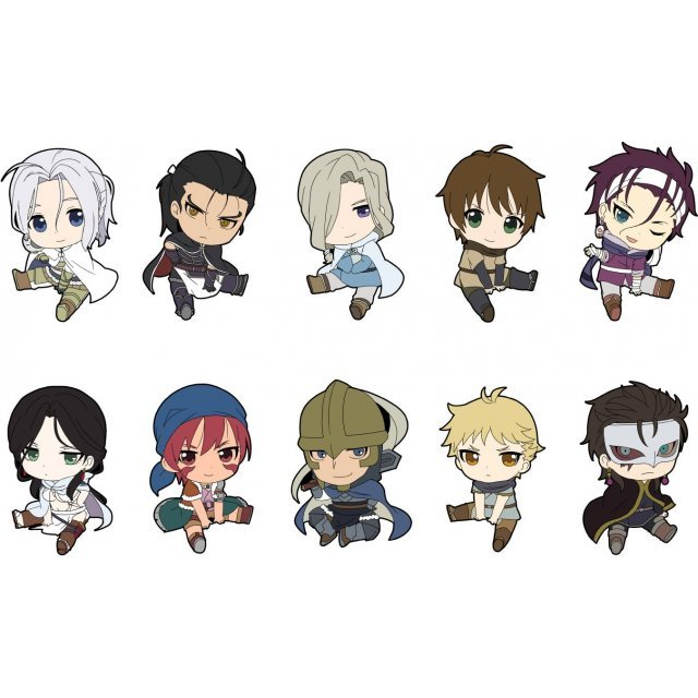 The Heroic Legend of Arslan Petanko Trading Rubber Strap (Set of 10 pieces)