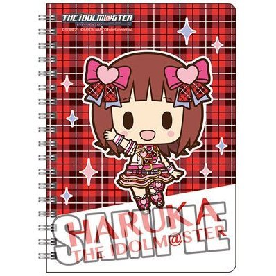 The Idolmaster Ring Notebook B6 W: Amami Haruka Mini Chara Ver.