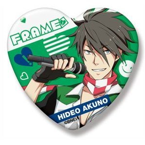 The Idolmaster SideM Heart Can Badge: Akuno Hideo