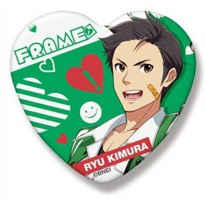The Idolmaster SideM Heart Can Badge: Kimura Ryu