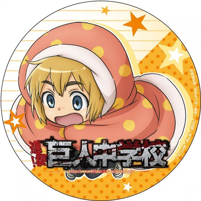 Attack on Titan Junior High Deka Can Badge: Armin Arlert