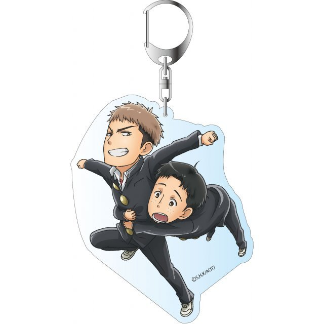 Attack on Titan Junior High Deka Key Chain: Jean & Marco