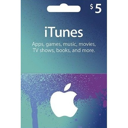 iTunes Card (USD 5 / for US accounts only)